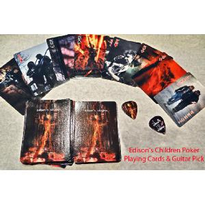 Deck of Poker Playing Cards (includes Guitar Pick) Image
